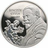 Pamětní stříbrná mince, 10000HUF 175. výročí narození Júlia Benczúra proof